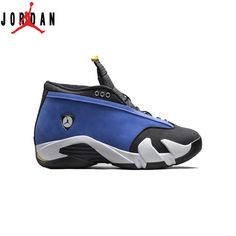 pretty nice 85396 5a522 Authentic 807511-405 Air Jordan 14 Retro Low Varsity Royal Maize-Black-White