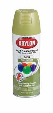 avacado Spray Paint for Metal   Krylon K05200200 Indoor/Outdoor Spray Paint, Worn Avocado Satin, 12 Oz ...