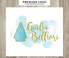 Arrow head logo, logo design, premade logo, watercolor logo, shop logo, logo graphics, business logo design, professional logo, gold logo by GiuliaBelfioriGadget