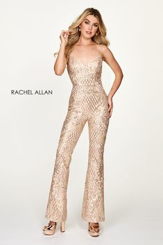 Homecoming Dress/Jumpsuit: 4625 in Champagne #homecomingdress #jumpsuit
