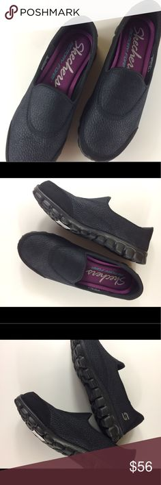 Skechers 7 1/2 black sneaker slip-on memory foam BRAND NEW! Skechers lightweight great traction with memory foam slip-on black size 7 1/2. Skechers says it all, always a great comfortable shoe! Skechers Shoes Flats & Loafers