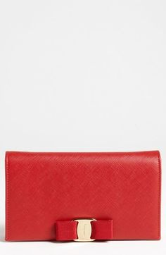 Nordstrom has this beautiful Clutch Bag Salvatore Ferragamo 'Miss Vara' Clutch Wallet Best for a nice evening out...