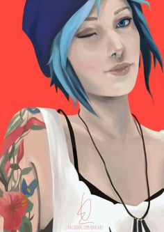 Life Is Strange ~Chloe~ ❤ Chloe Price, Arcadia Bay, Blue Haired Girl, Life Is Strange 3, Fanart, Video Games Girls, Music Memes, Weird Art, Best Games