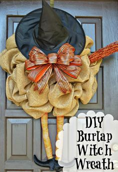 DIY Burlap Witch Wreath