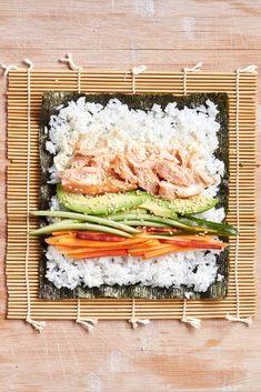 There& no raw fish in these easy sushi rolls -- just succulent, perfectly cooked salmon and plenty of fresh vegetables. For our food editor& tips on how to roll like a pro, see How to Make Sushi at Home. Easy Sushi Rolls, Homemade Sushi Rolls, Seafood Recipes, Salmon Recipes, Cooking Recipes, Healthy Recipes, Cooked Salmon Sushi Recipe, Baked Sushi Recipe, Fish Recipes