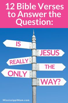 Do all roads lead to heaven or is Jesus really the only way? 12 Bible Verses to Answer that question. Link up at Encouraging Word Wednesday this week! Spiritual Encouragement, Christian Encouragement, Words Of Encouragement, Bible Study Tips, Bible Lessons, Christian Faith, Christian Living, Christian Women, Christian Quotes