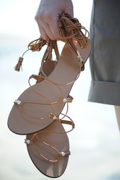 .: Massimo Dutti gladiator sandals :.