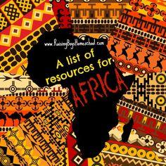 Resources for Studying Africa by RaisingBoysHomeschool.com