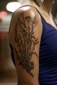 Poppies. | Alice Carrier with Anatomy Tattoo - Portland, OR. My skin got inked! Love my new art!!!