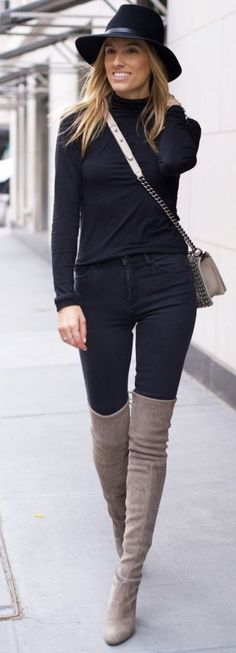 Mind Body Swag Other The Knee Boots Fall Streestyle Inspo