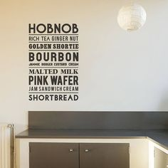 Typographic Biscuit Wall Sticker