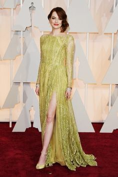 Emma Stone - Oscars 2015. Click on the image for our entire Oscars coverage including all the dresses.