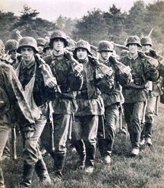 Waffen SS on the move.