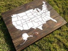 USA Map Made From Pallet Wood Pallets Pinterest Pallets - How to do us map on pallet
