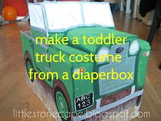 In the Little Stone Cape: DIY Toddler Truck Costume