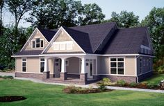 Craftsman House Plan chp-43147 at COOLhouseplans.com