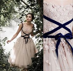 New Arrival 2016 Paolo Sebastian Wedding Dresses Vintage Spaghetti Straps Appliqued Tea Length Floral Bridal Gown Formal Prom Party Dresses Online with $100.53/Piece on Olesa's Store | DHgate.com