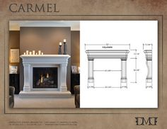 Carmel Stone Mantel by Distinctive Mantel Designs, Inc. - mediterranean - Indoor Fireplaces - Denver - Distinctive Mantel Designs, Inc