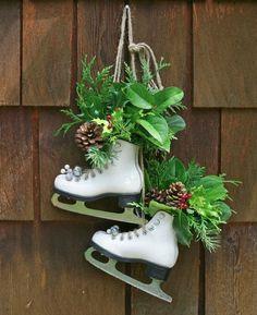 Groene schaatsen / DIY skate planters