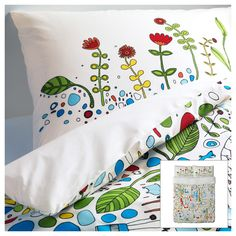 ^ Kids aren't the only ones who can have fun colors and patterns, my friends. EIVOR LEVA Duvet cover and pillowcase(s) IKEA Percale; crisp, cool bedlinen densely woven from fine yarn. At Home Furniture Store, Modern Home Furniture, Affordable Furniture, Modern Interior, Interior Design, Ikea Bed, Bedding Sets Online, Little Girl Rooms, Cool Beds