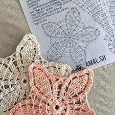 Crochet Flower Spirals In Center Tutorial 59 Part 1 of 2 - Crochet Swaddle Crochet Leaves, Crochet Motifs, Crochet Chart, Crochet Doilies, Crochet Flowers, Crochet Stitches, Crochet Patterns, Hand Crochet, Stitch Crochet