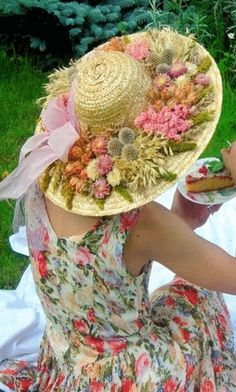 Flowers & Bow Hat