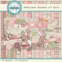 Precious Bundle of Girl Digital Scrapbooking Kit
