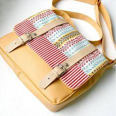 "Shoulder Bags – ""Aktofka"" (messenger - medium size) – a unique product by Ammyla on DaWanda Handmade Bags, Diaper Bag, Medium, Shoulder Bags, Unique, Design, Products, Fashion, Moda"