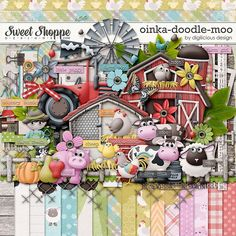Sweet Shoppe Designs :: Digital Scrap Kits :: Oinka-doodle-moo by Digilicious Design