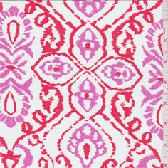 White/Pink Lawn - 30657 - Fabric By The Yard At Discount Prices