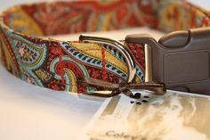 Dog Collar The Autumn Paisley FREE US SHIPPING by ColeysCollars, $15.95