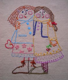 embroidered besties :)