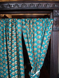 African print curtains - and door molding