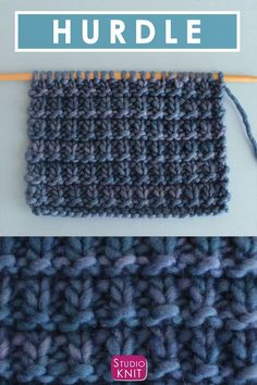 Perfect for Beginning Knitters! How to Knit the Hurdle Stitch with Free Written Pattern and Video Tutorial by Studio Knit. #knitting #studioknit #knitstitchpattern #freeknittingpattern