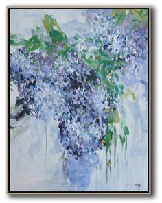 Vertical Abstract Flower Oil Painting #LX49B #Abstract #Artists_Lin-Xiang #flower-oil-painting