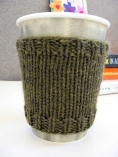 free pattern for Coffee Cozy by freakapotimus