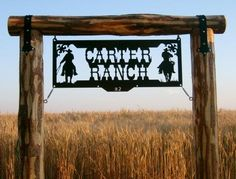 Photo Gallery   Ranch Signs, Gates, and Custom Metal Art by Big ...