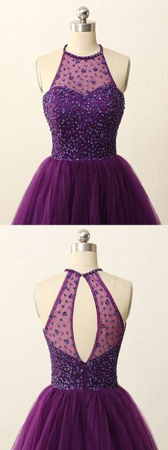 2016 homecoming dress, purple homecoming dress 2016, short homecoming dress 2016, halter homecoming dress with key hole back, party dress, dancing dress