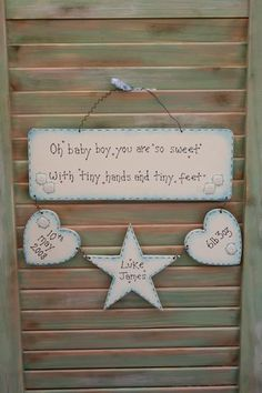 new baby craft ideas wooden shabby chic family heartstrings plaque craft 5026