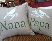 Nana & Papa pillows