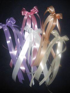 Hochzeitsdeko - 12*Wetterfeste Antennenschleifen*Farbe wählbar - ein Designerstück von bastel-freak bei DaWanda