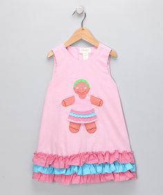 Take a look at this Rosalina Pink Gingerbread Jumper - Toddler & Girls on zulily today!