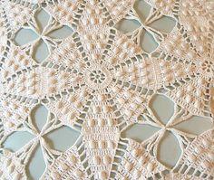 Vintage Crocheted Bedspread