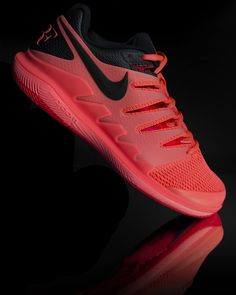 057e494bd19d9 Nike Air Zoom Vapor X Mens Tennis Shoe - Lava Glow Black Red