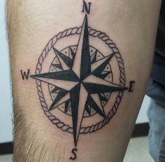 Compass tattoo by me