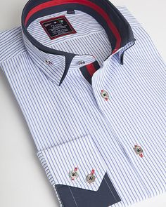 Unique double collar shirt by Franck Michel Paris