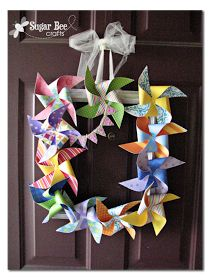 Sugar Bee Crafts: Pinwheel Frame Wreath - with Lifestyle Crafts