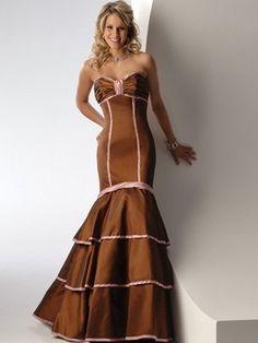 2012 Meerjungfrauförmiges geschichtetes Cocktailkleid mit Schleife