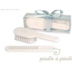 Kam en borstel wit-blauw van Pasito a Pasito
