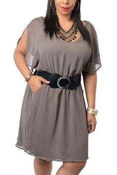 DHStyles Women's Plus Size Chic Flowy Chiffon Office Dress with Belt-1X - Mocha DHStyles http://www.amazon.com/dp/B00JF9KQMO/ref=cm_sw_r_pi_dp_zTsJtb0PNCXXWF75